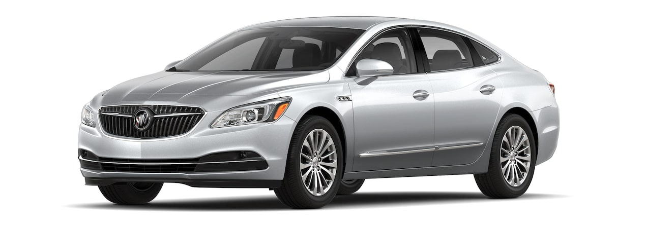 Image of the 2018 Buick LaCrosse full-size luxury sedan in quicksilver metallic.