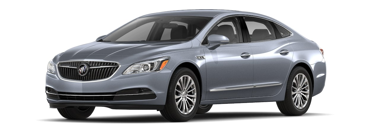 Image of the 2018 Buick LaCrosse full-size luxury sedan in Satin Steel Metallic.