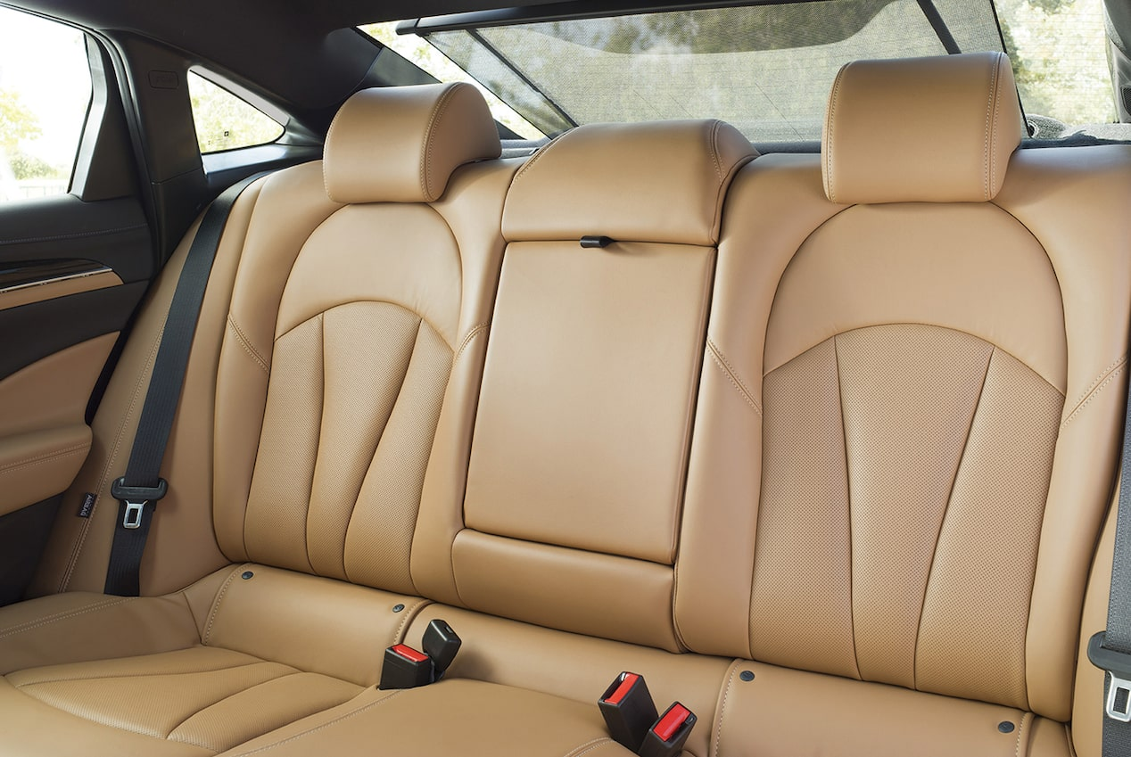 Image showing the rear seating in the 2018 Buick LaCrosse full-size luxury sedan.