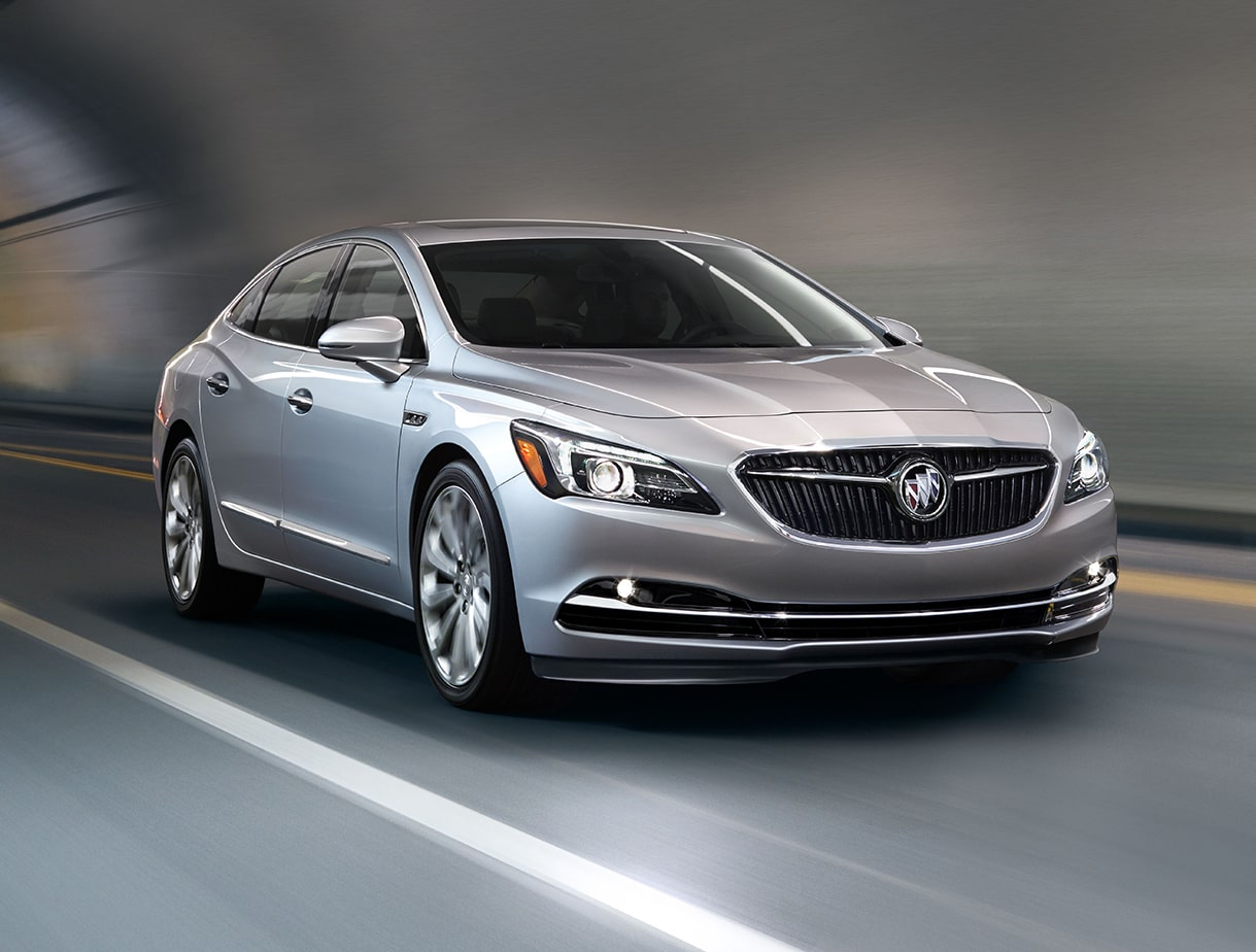 Image featuring the lane departure assistance of the 2018 Buick LaCrosse full-size luxury sedan.