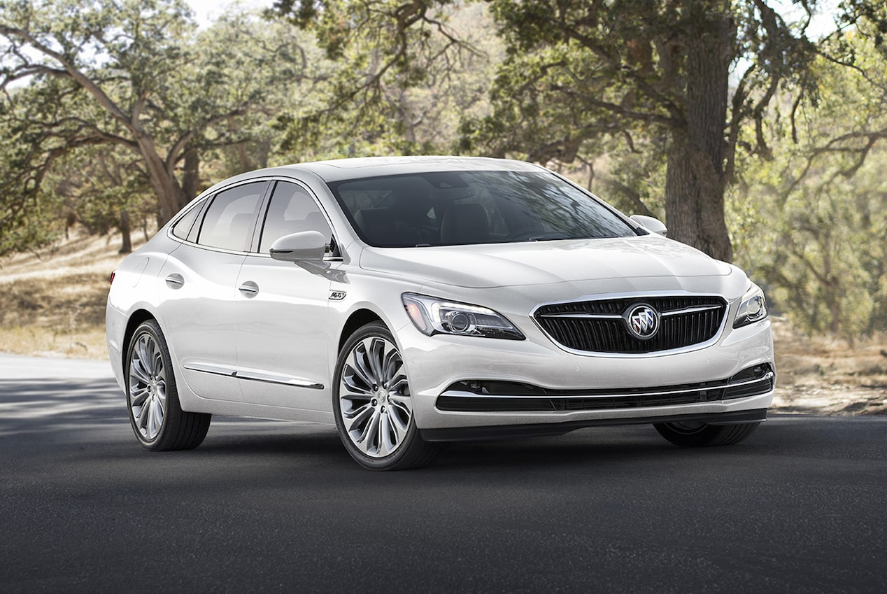 Image highlighting the exterior design of the 2018 Buick LaCrosse full-size luxury sedan.