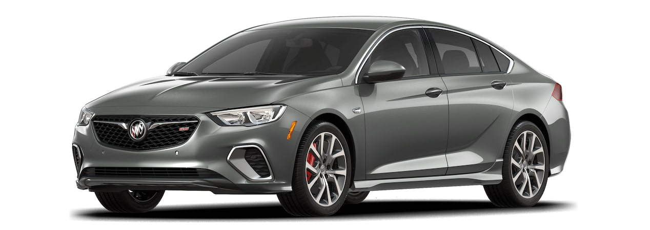 2018 Regal GS luxury sedan smoked pearl metallic.