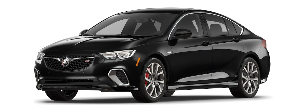 2018 Regal GS luxury sedan sport ebony twilight metallic.