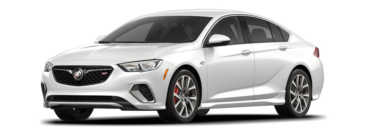 2018 Regal GS luxury sedan white froat tricoat.