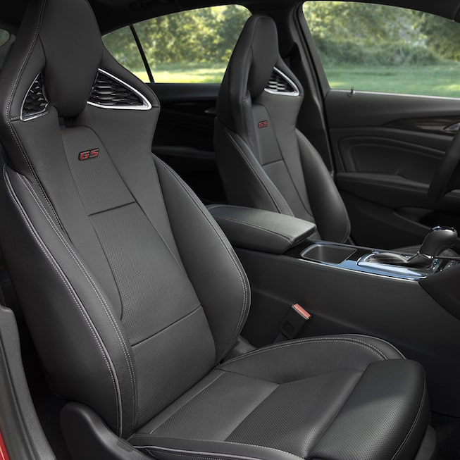 2018 Regal GS luxury sedan interior seats.