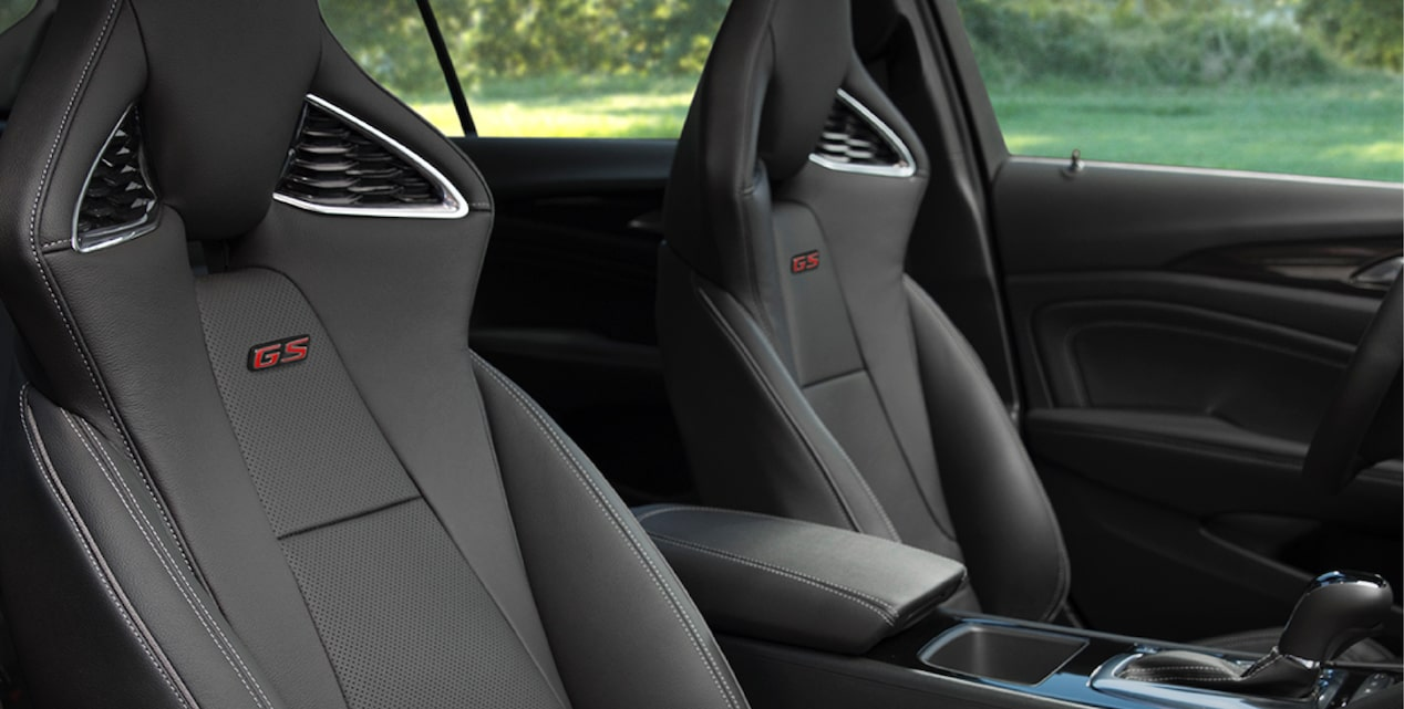 2018 Regal GS luxury sedan racing seats.