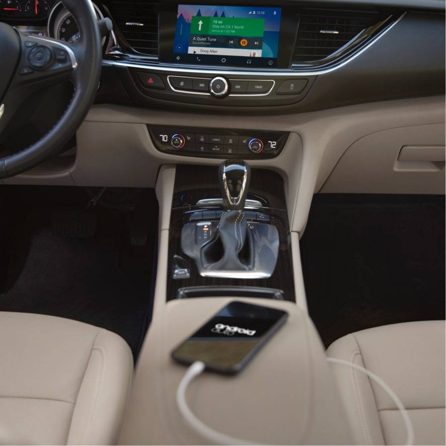 Image showing Android Auto connectivity in the Buick Regal Sportback mid-size luxury sedan