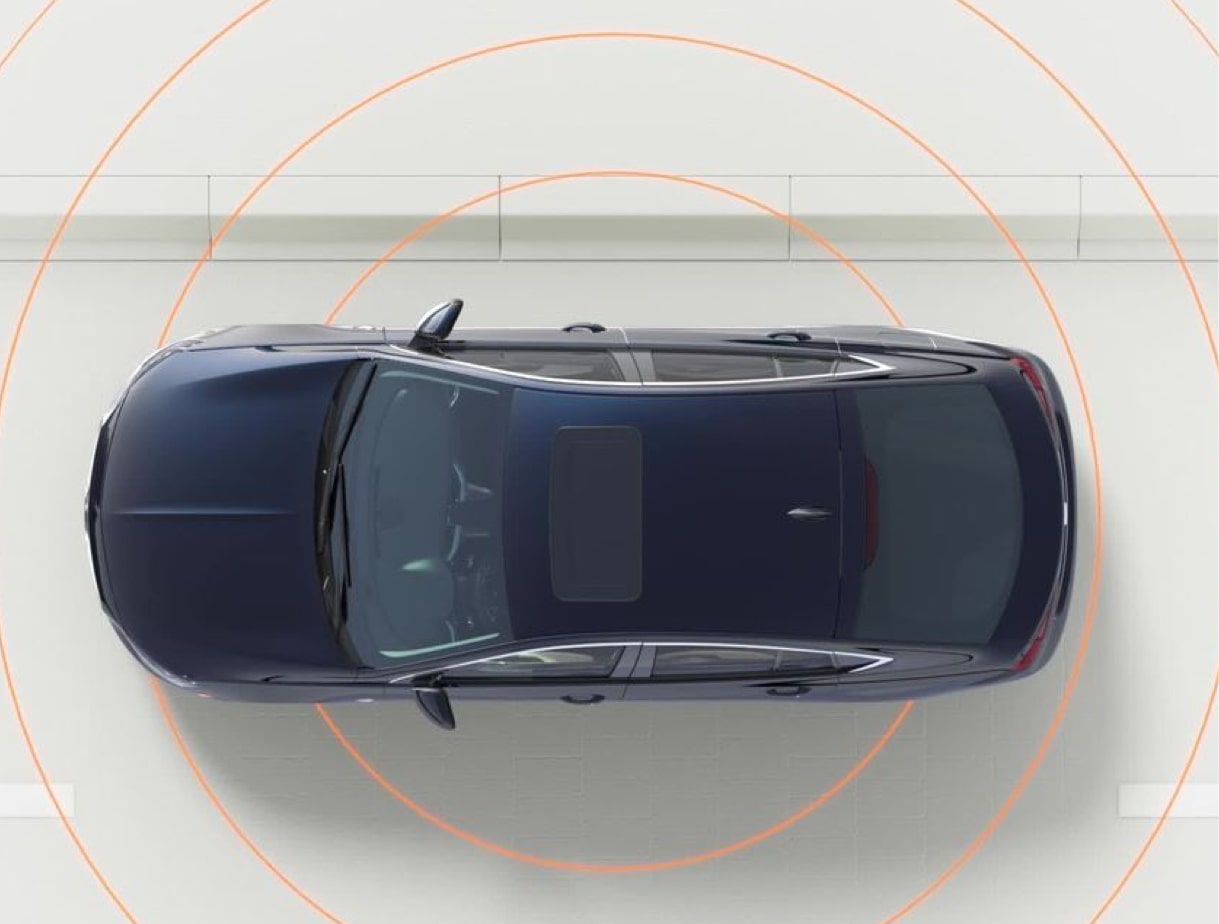 Image showing safety features of the 2018 Buick Regal Sportback mid-size luxury sedan.