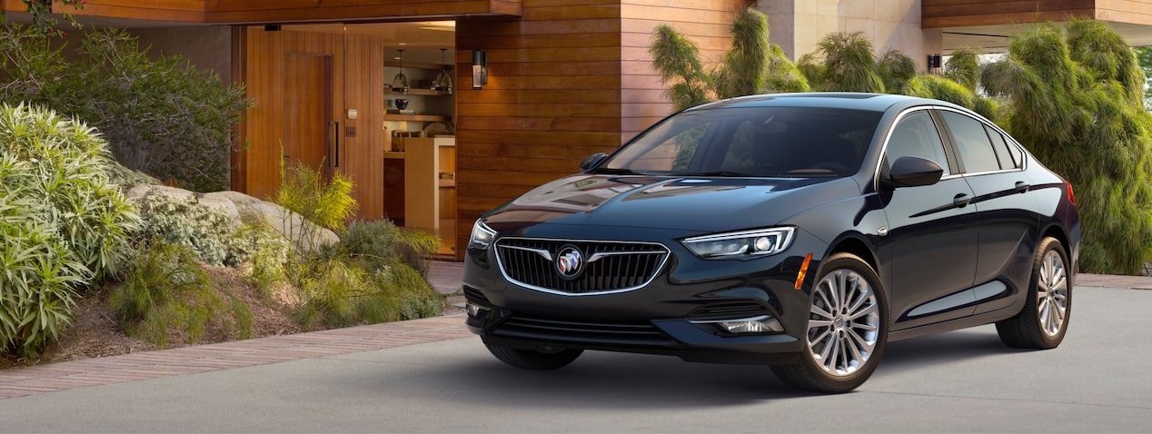 Masthead image for exerior features of the 2018 Buick Regal Sportback mid-size luxury sedan.