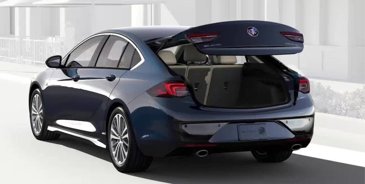 Image showing exerior features of the 2018 Buick Regal Sportback mid-size luxury sedan.