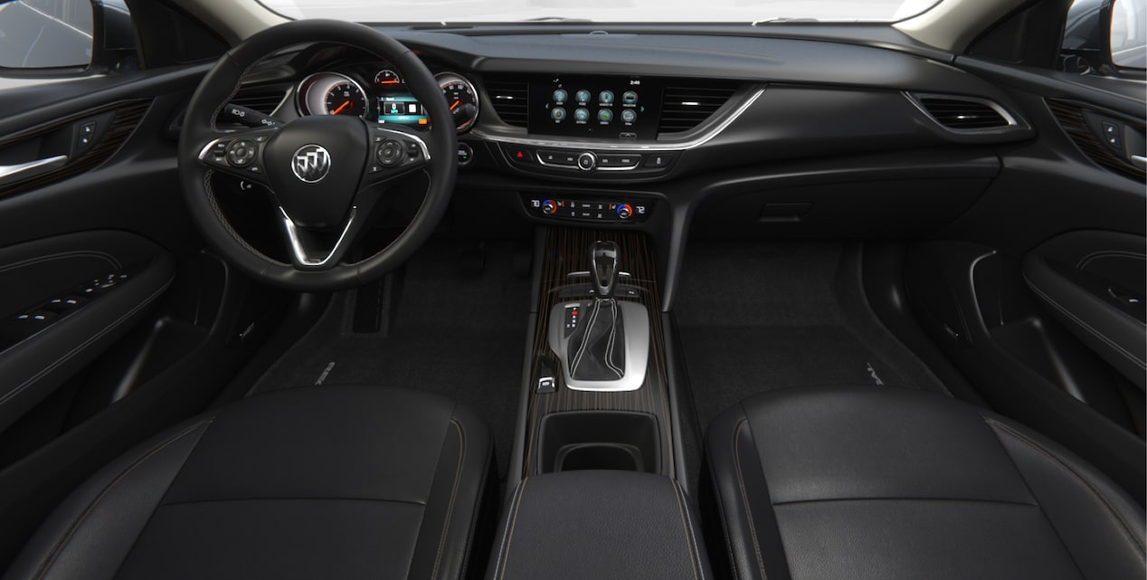 Image showing interior features of the 2018 Buick Regal Sportback mid-size luxury sedan.