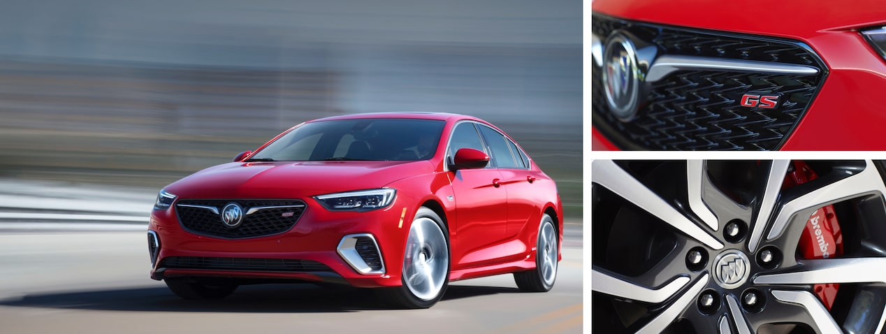 Preview image of the 2018 Buick Regal GS mid-size luxury sedan.