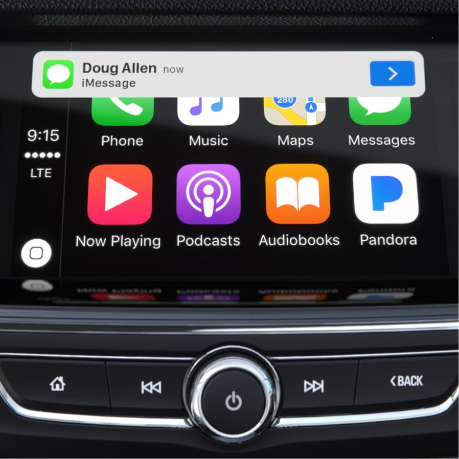 Image showing connectivity features of the 2018 Buick Regal TourX luxury wagon.
