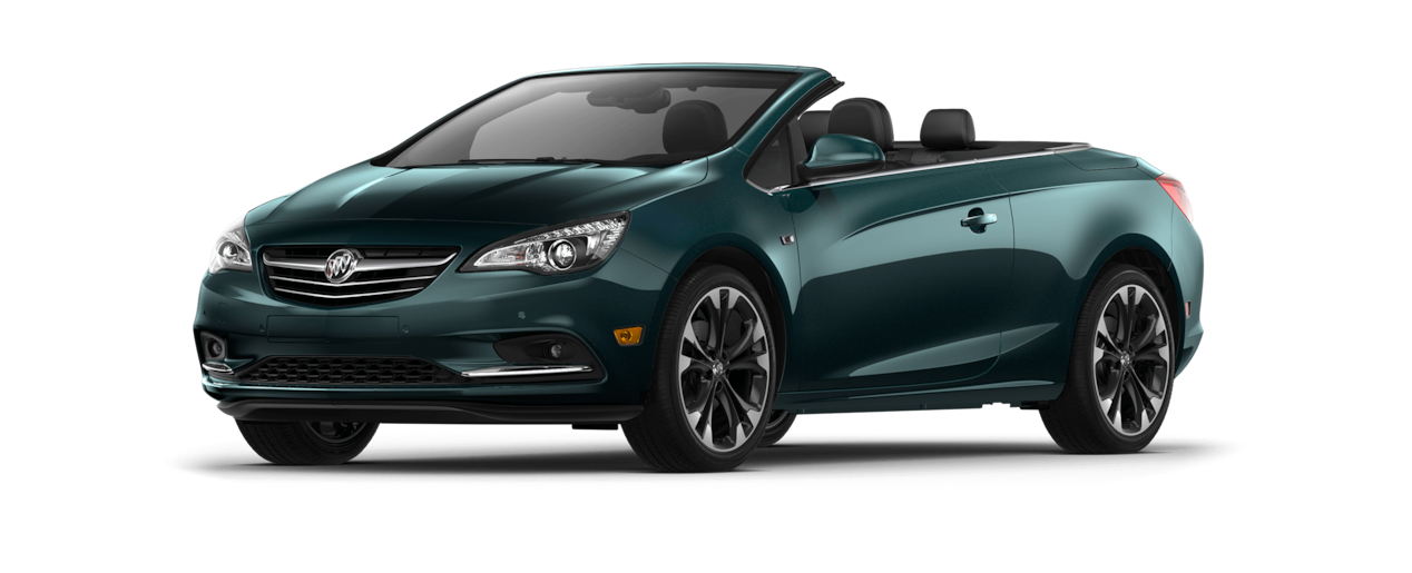 Image of the 2018 Buick Cascada luxury convertible in carrageen metallic.