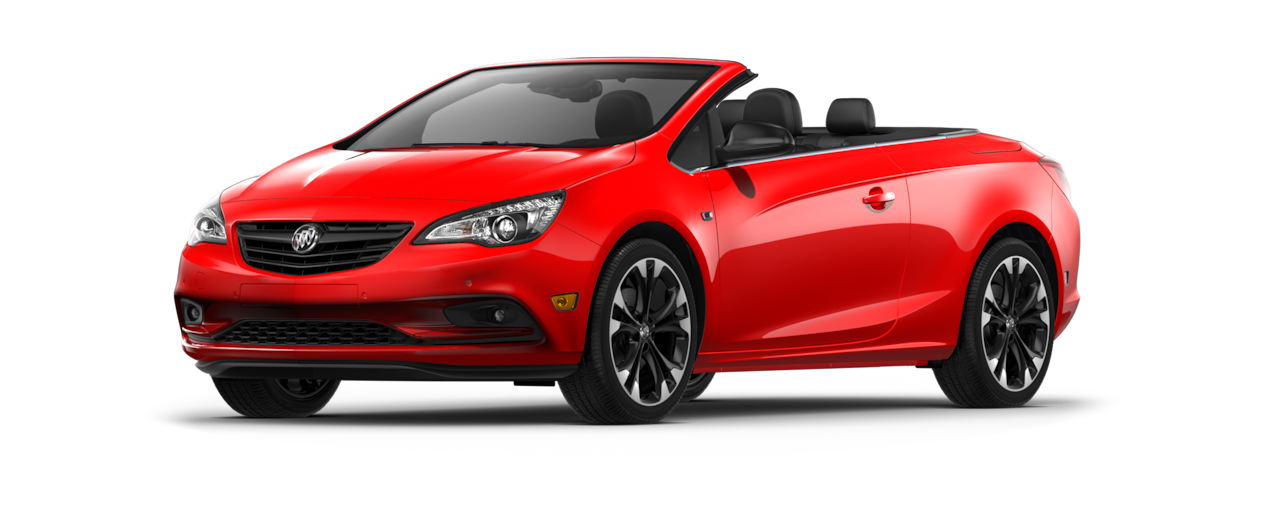 Image of the 2018 Buick Cascada luxury convertible in sport red.