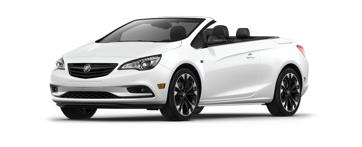 Image of the 2018 Buick Cascada luxury convertible in summit white.