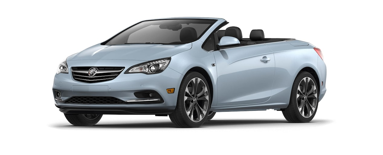 Image of the 2018 Buick Cascada luxury convertible in flip chip silver metallic.
