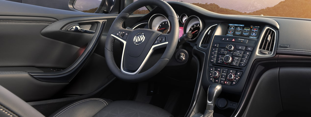 Masthead image for the page featuring connectivity features of the 2018 Buick Cascada luxury convertible.