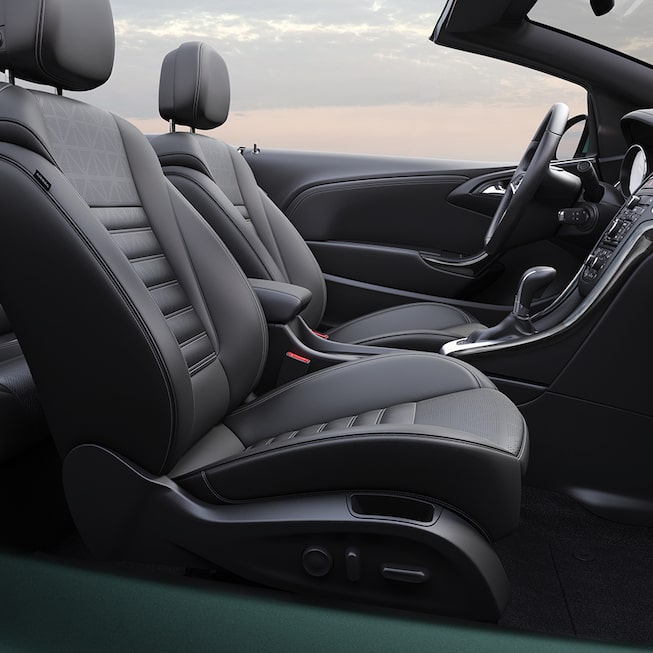 Interior image of the 2018 Buick Cascada luxury convertible.