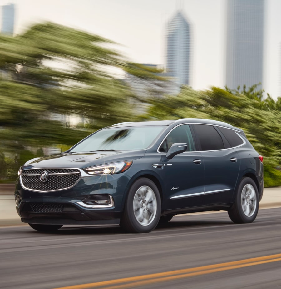 Image showing features of the 2018 Buick Enclave Avenir mid-size luxury SUV.