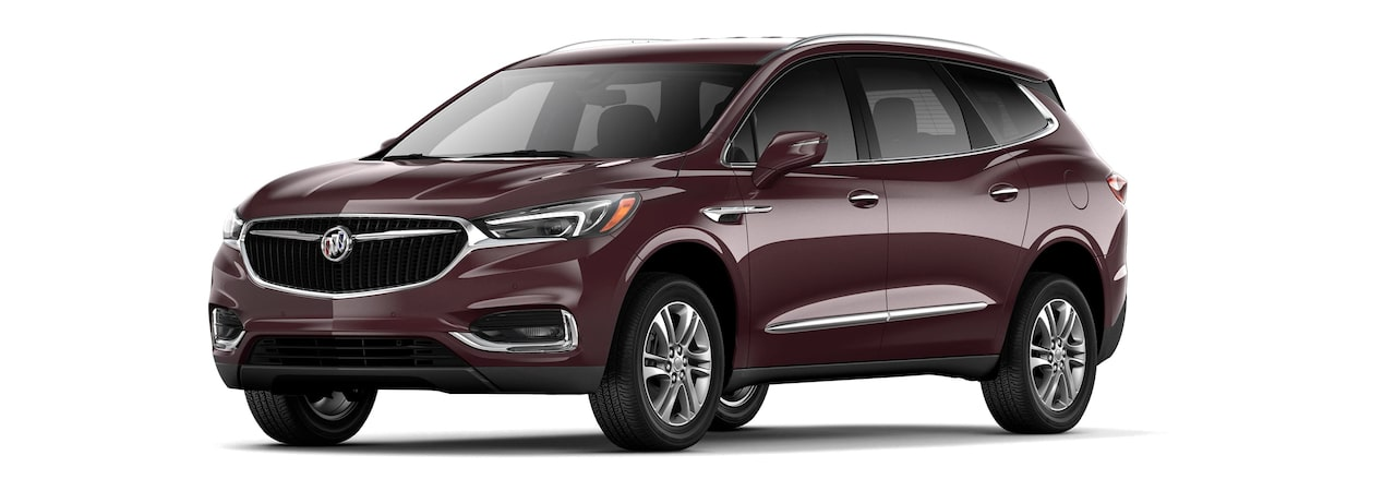 2018 Enclave mid-size luxury SUV shown in cherry metallic.
