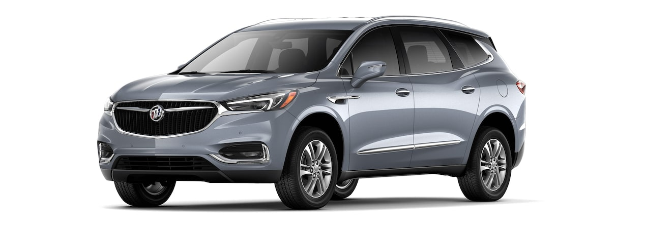 2018 Enclave mid-size luxury SUV shown in satin steel metallic.