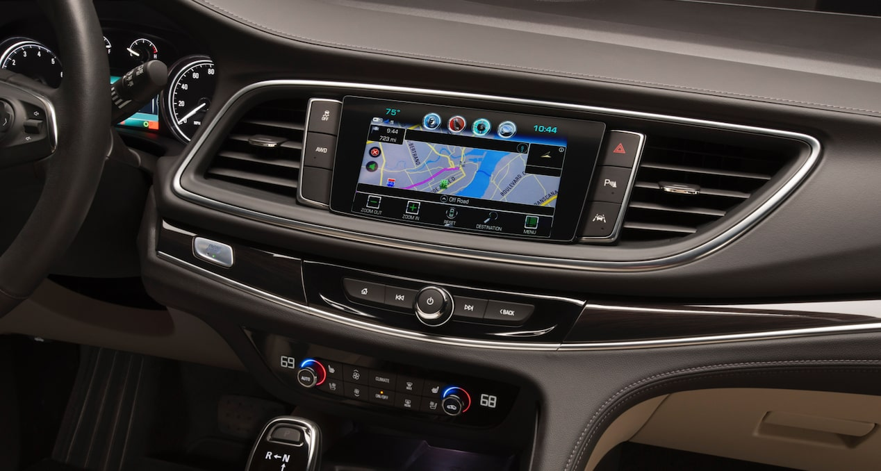2018 Enclave mid-size luxury SUV connectivity navigation.