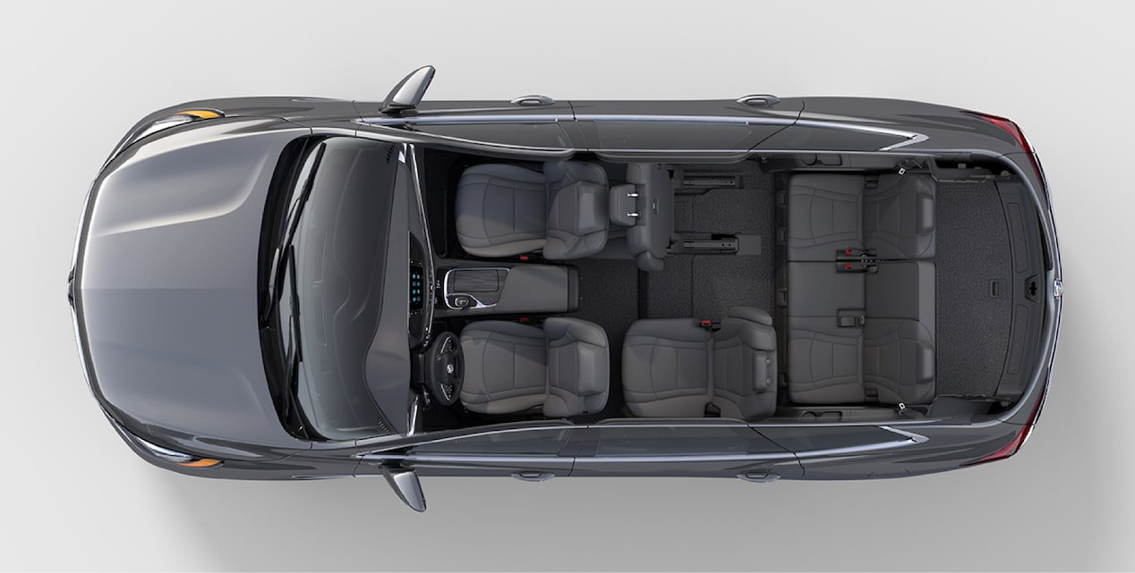 2018 Enclave mid-size luxury SUV interior cargo carpool.