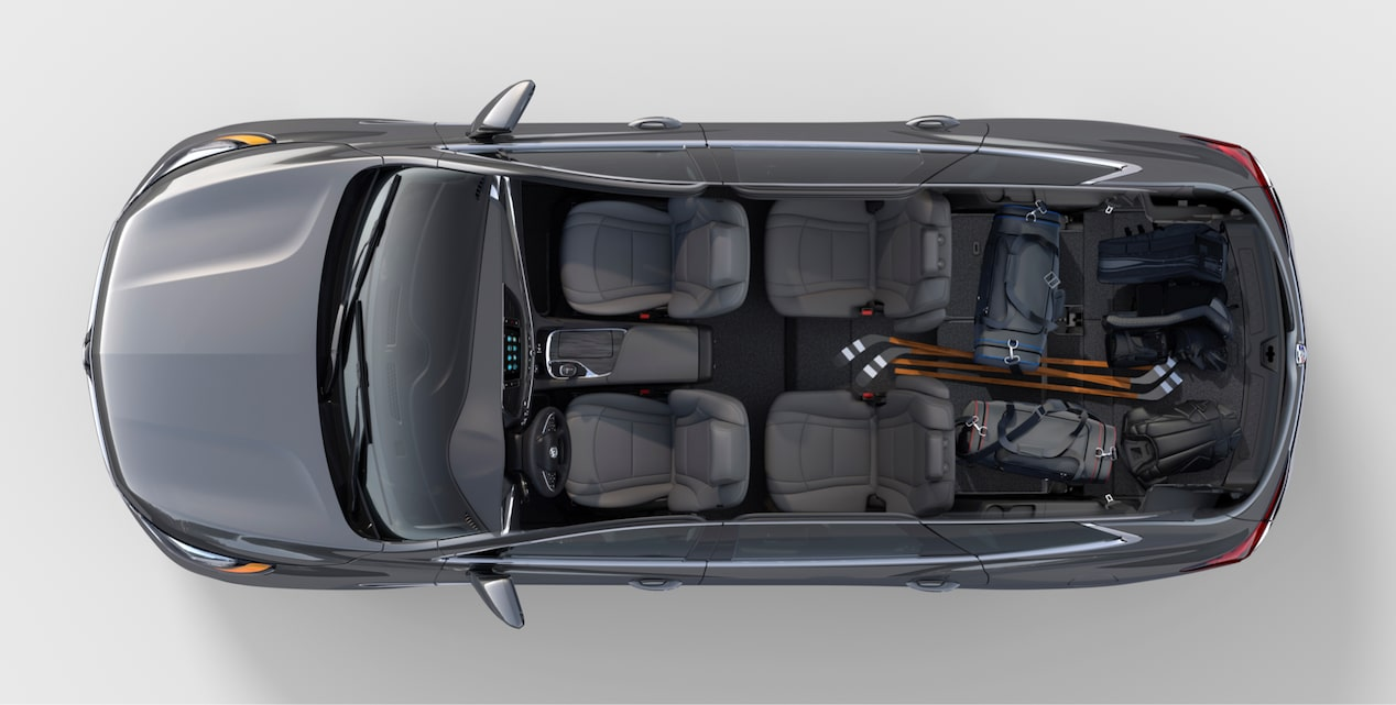 2018 Enclave mid-size luxury SUV interior cargo recreation.
