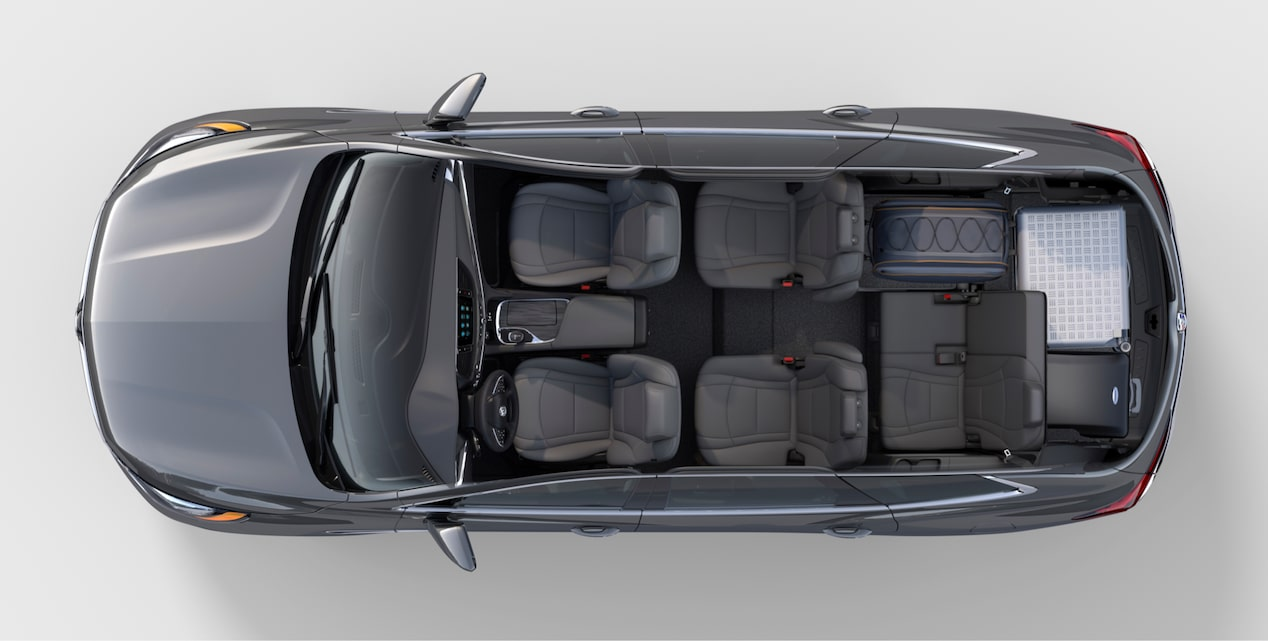 2018 Enclave mid-size luxury SUV interior cargo vacation.