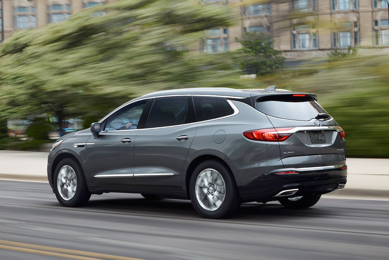 2018 Enclave mid-size luxury SUV safety auto braking.