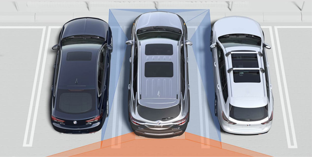 2018 Enclave mid-size luxury SUV safety surround vision.