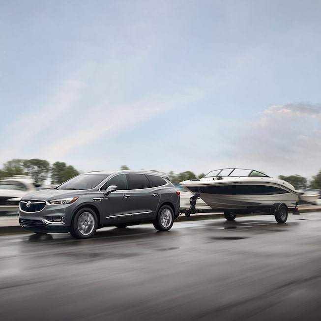 2018 Enclave mid-size luxury SUV exterior towing.