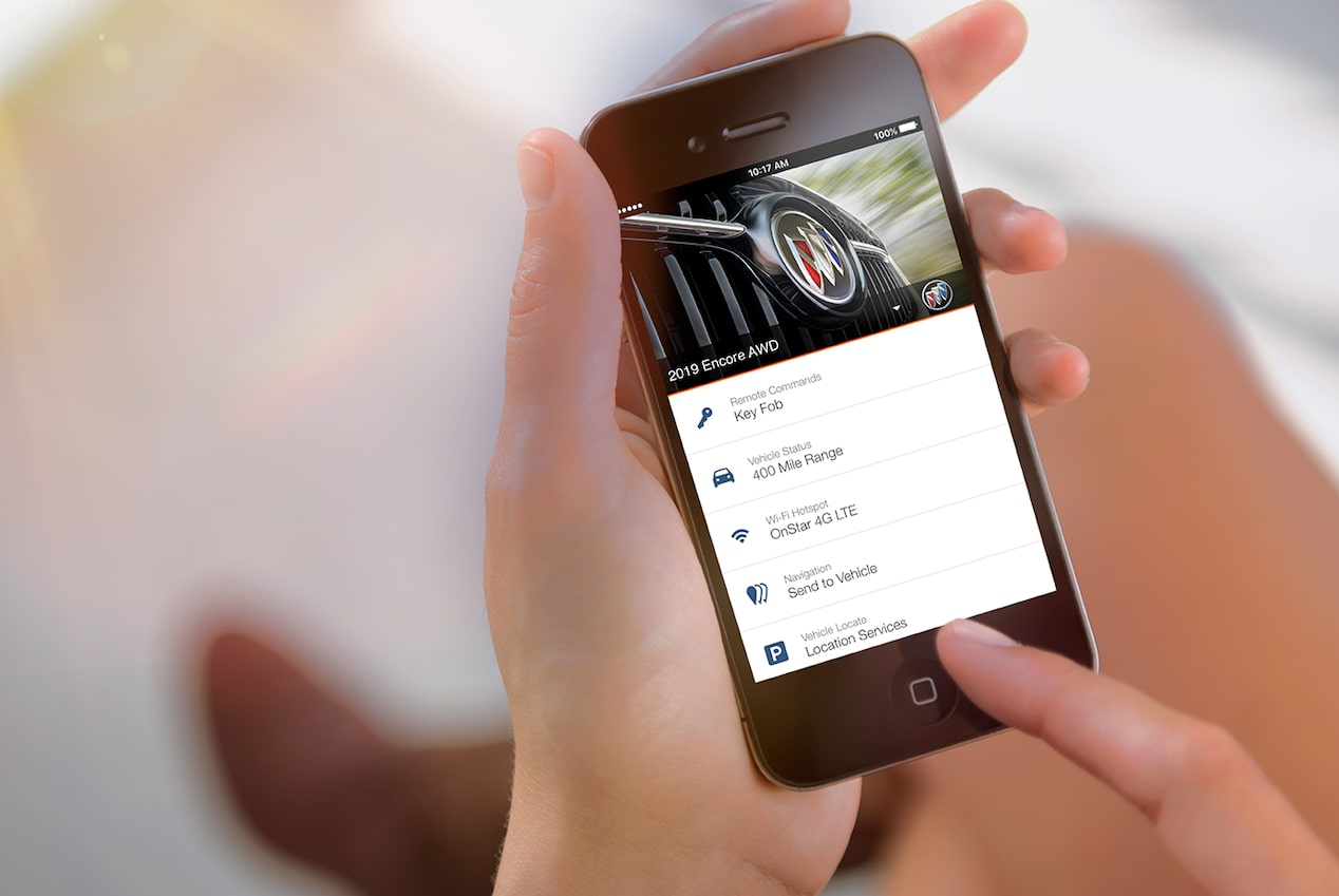 MyBuick App available for the 2018 Encore compact SUV.