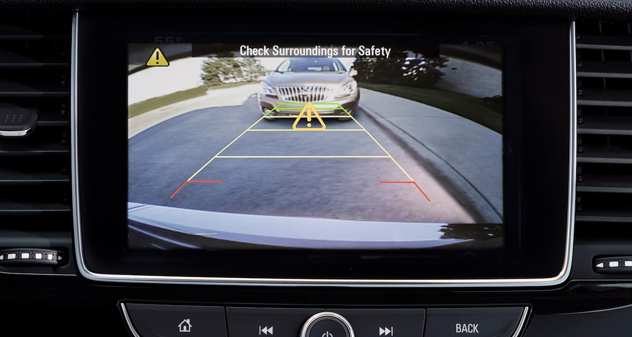 Rear camera in the 2018 Encore compact SUV.