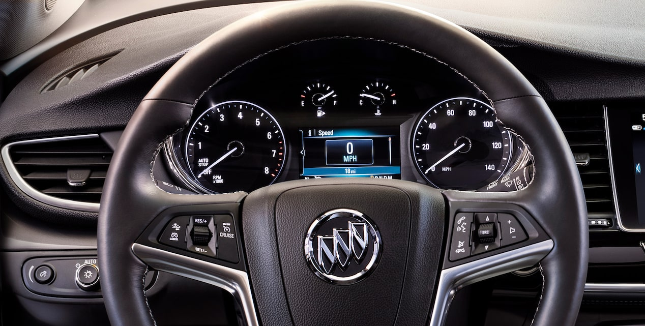 2018 Encore compact luxury SUV steering wheel.