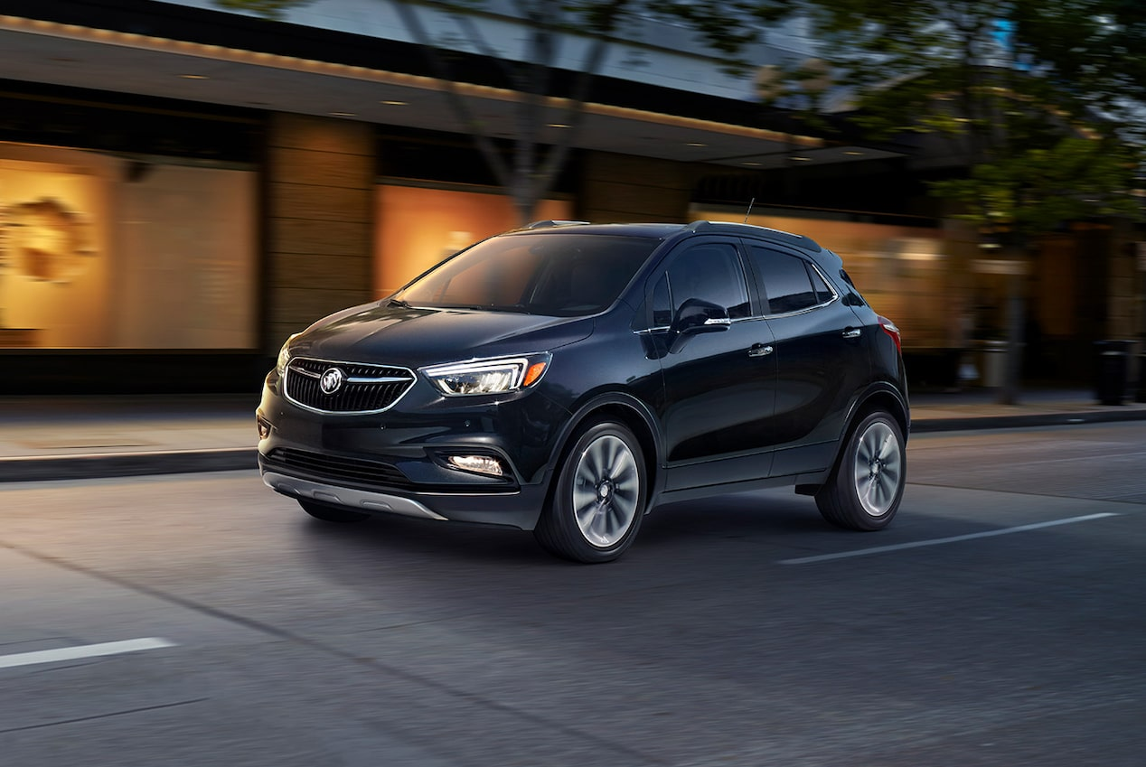 All wheel drive in the 2018 Encore compact SUV.