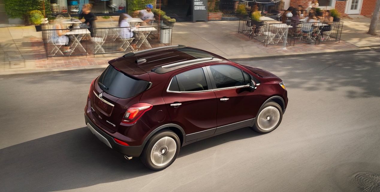 Maneuverable handling in the 2018 Encore compact SUV.