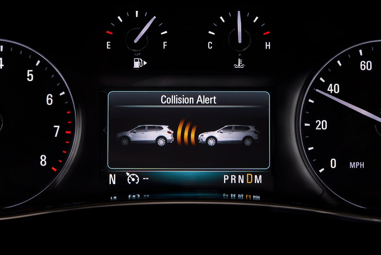 Forward Collision Alert in the 2018 Encore compact luxury SUV.