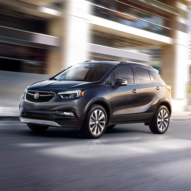2018 Encore compact SUV in graphite gray.