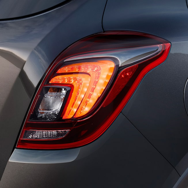 Taillamps of the 2018 Encore compact SUV.