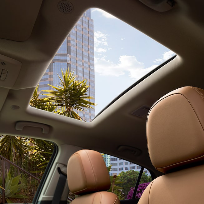 Power Moonroof inside the 2018 Encore compact SUV.