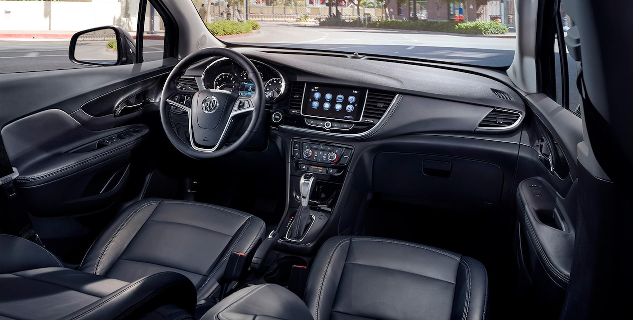 Luxurious interior of the 2018 Encore compact SUV.
