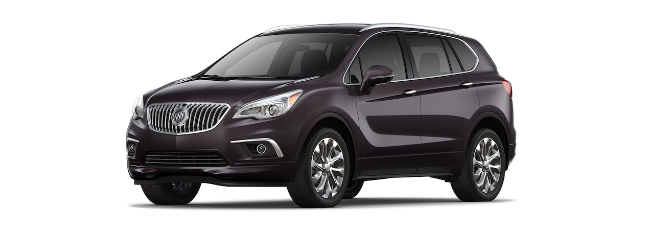 2018 Envision small luxury SUV shown in midnight amythyst metallic.