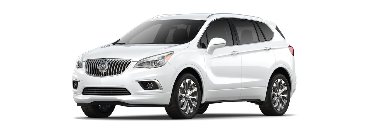 2018 Envision small luxury SUV shown in summit white.