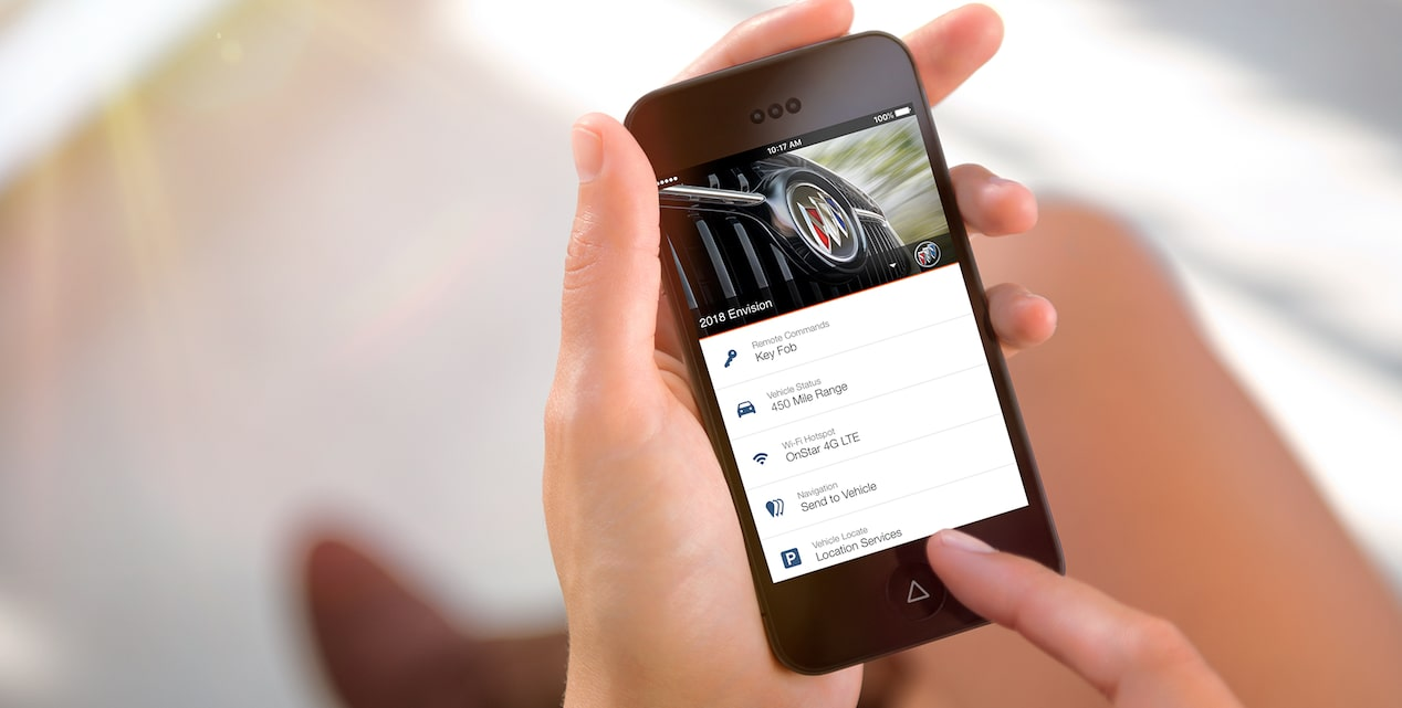 2018 Envision small luxury SUV myBuick App.