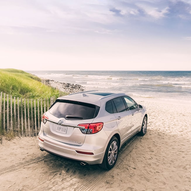 2018 Envision small luxury SUV exterior image galaxy silver metallic.