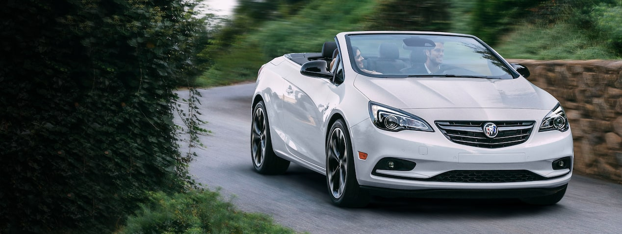 Masthead image for the exterior features page for the 2019 Buick Cascada luxury convertible.