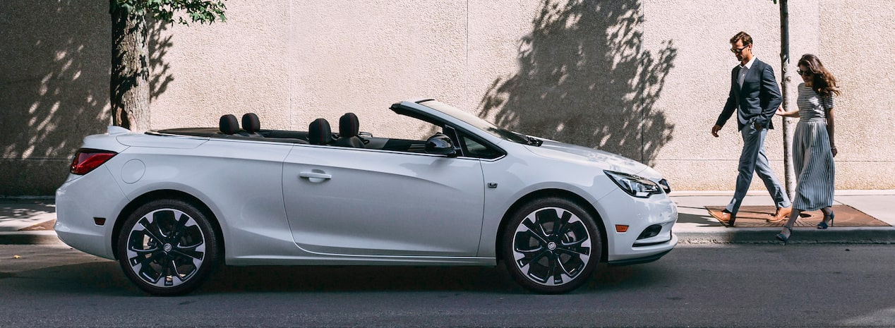 Masthead Image Featuring The 2019 Buick Cascada Luxury Convertible With A Roaching Vehicle