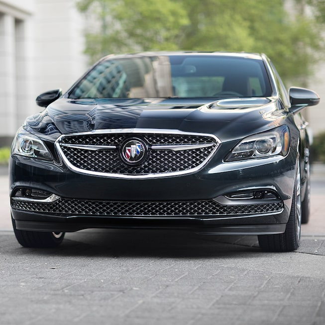 Exterior gallery image showing of the 2019 Buick LaCrosse Avenir full-size luxury sedan.